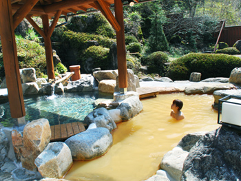 Soak yourself in the high-dense naturally carbonated hot spring!